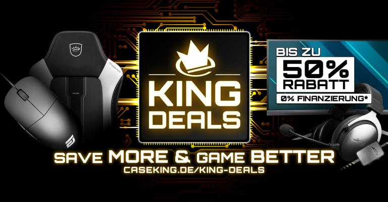KING DEALS 2019 bei Caseking: Spannende Marken, tolle Produkte und bis zu 50 Prozent Rabatt!